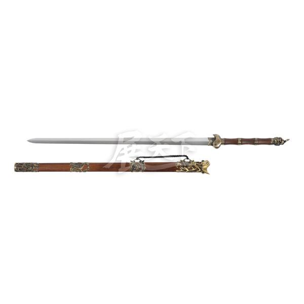 龍泉玄武劍(送劍架) 龍泉玄武劍,雙手劍,高階學習者,高碳鋼,劍身硬,玄武神獸,鎮宅寶劍。