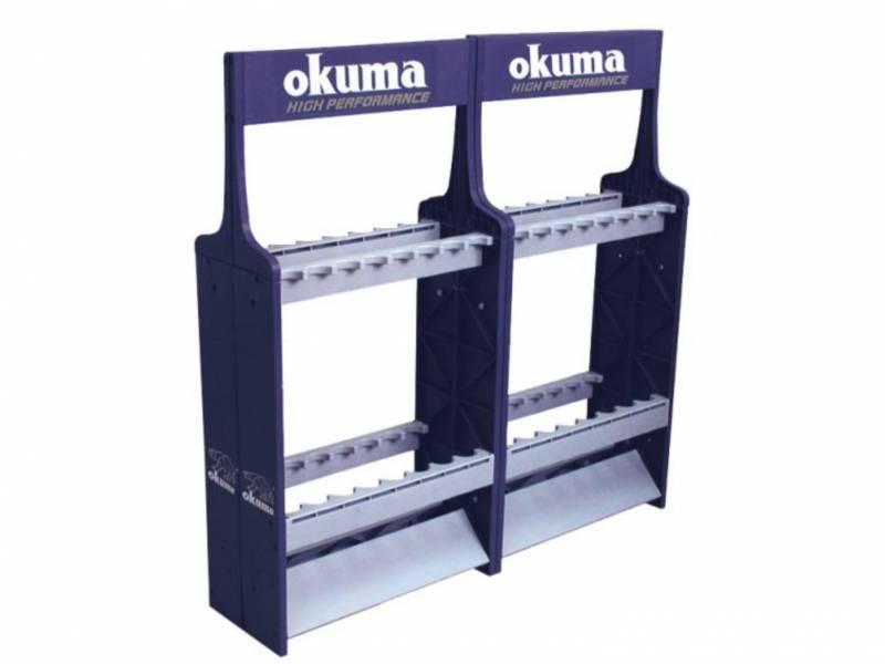 OKUMA 展示架 / 釣竿架(16入)