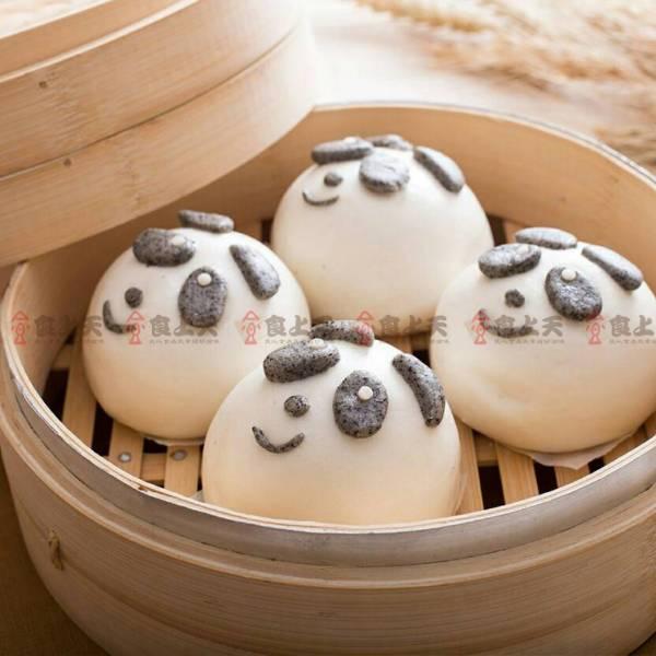 芝麻熊貓包 芝麻,熊貓,包,蒸