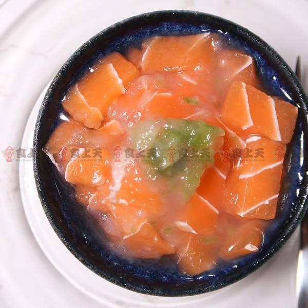 芥末美人鮭(素) 芥末,山葵,鮭魚,蒟蒻,清爽,刺激