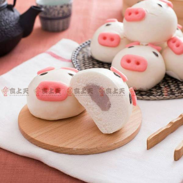 開心芋泥豬包 豬,芋泥,包子