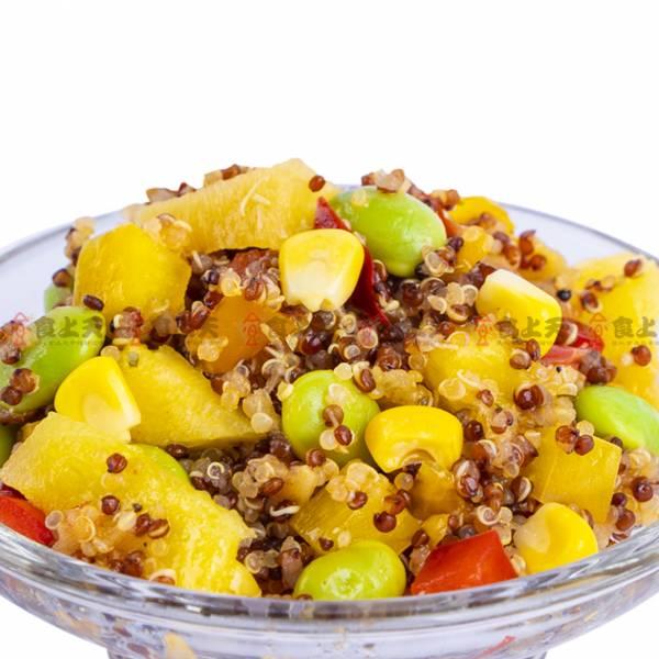 藜麥佐金鑽鳳梨莎莎醬(全素) 藜麥,金鑽,鳳梨,莎莎,夏日,毛豆