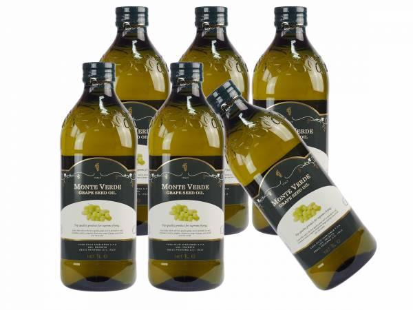 濛德渥(葡萄籽油)【1000ml x6瓶 】(效期:2022.02.25) 義大利葡萄籽油,Monte Verde