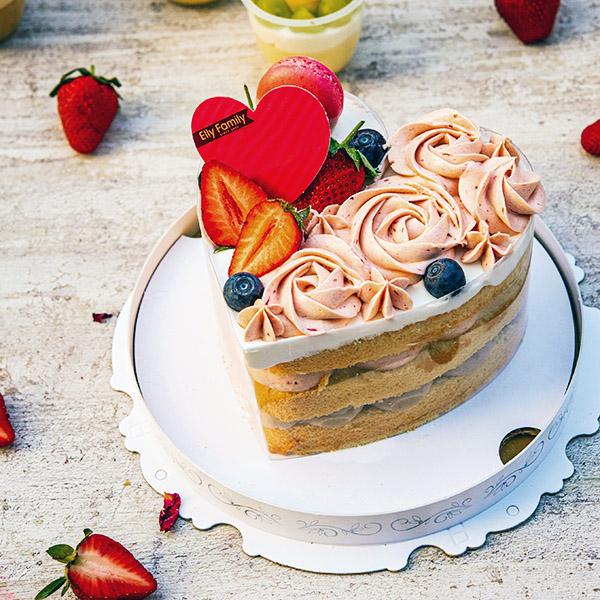 【裸蛋糕】玫莓傳心