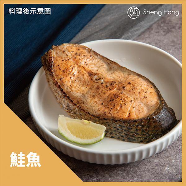 媽~我要吃鮭魚!哇好大片啊~