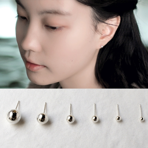 925純銀 - 日常女人必備 925純銀耳環,LadyA,耳環,可愛,優雅,時髦,休閒,韓風,抗敏,簡約,日常必備,日常,珠珠耳環