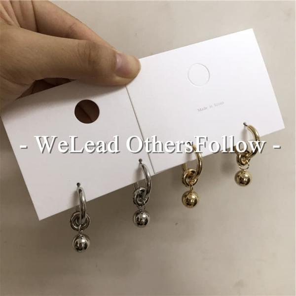 限量 |  韓國東大門幾何圓形C耳針鍍真金耳環