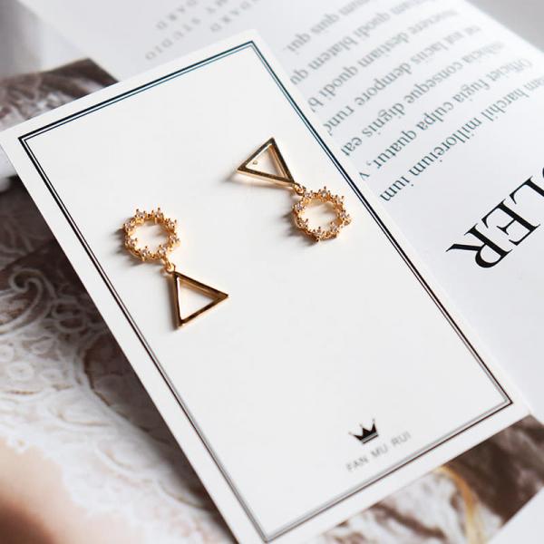 限量 | 韓國時尚新款簡約耳環女 幾何圓圈三角耳墜