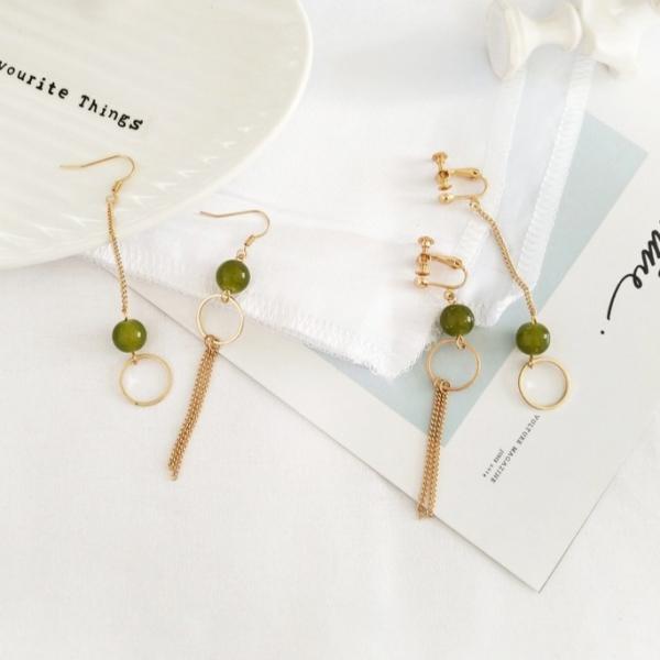 綠漾森林迷路寶石耳環