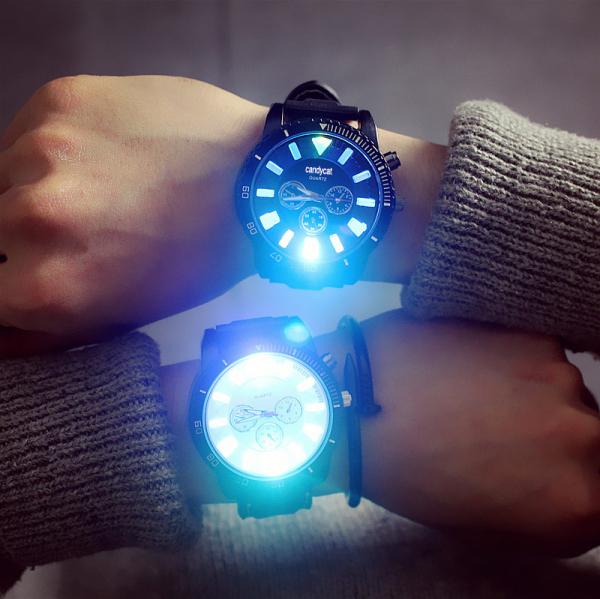[韓國] GD權志龍同款 - 都會個性LED防水立體手錶