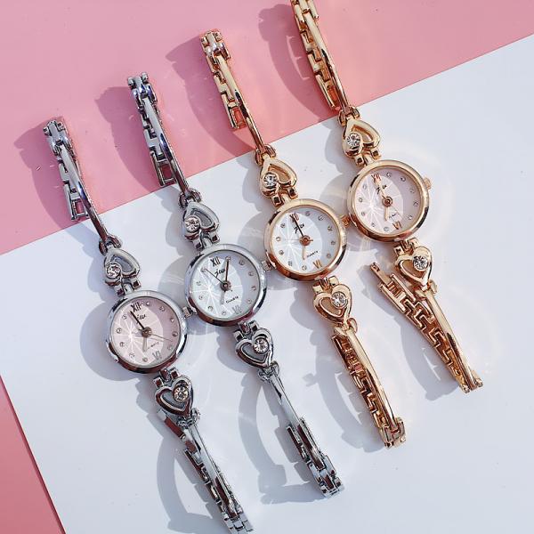 [韓國]ins手表韓版簡約女學生chic風森系網紅別樣小巧迷你可愛心形手錶