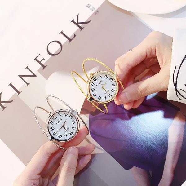 [韓國]ins 手鐲大錶盤女錶超大韓版女學生簡約2018新款時尚潮流大氣手錶