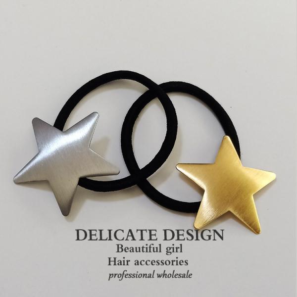 星星金屬質感髮束