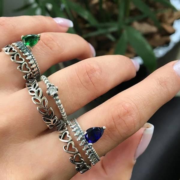[歐美] 伊莉莎白二世 · 宮廷系列戒指 (6件套組)