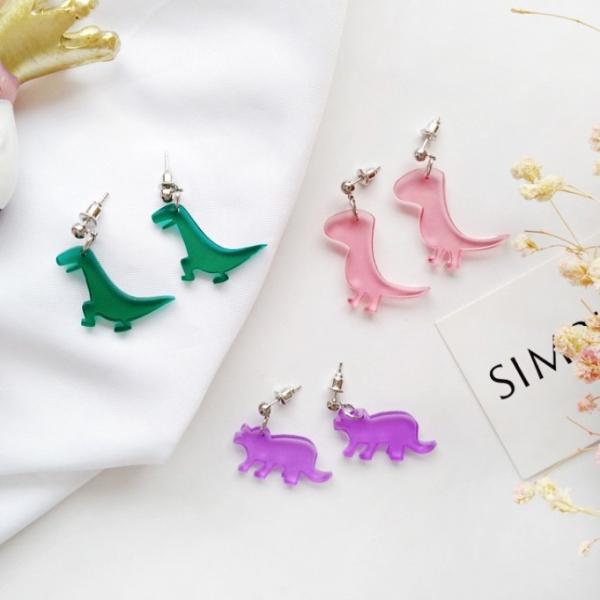 恐龍來了!侏羅紀大冒險|耳環耳夾