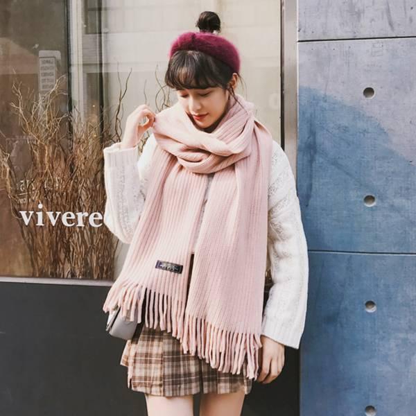 2019暖春新款 - 加厚加大日本披肩圍巾