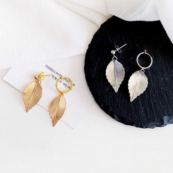 尚唯美銅材森系小清新耳環 | 無耳洞耳夾