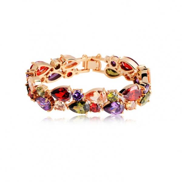 奧黛兒 - 蒙娜麗莎的微笑5A七彩寶石手環