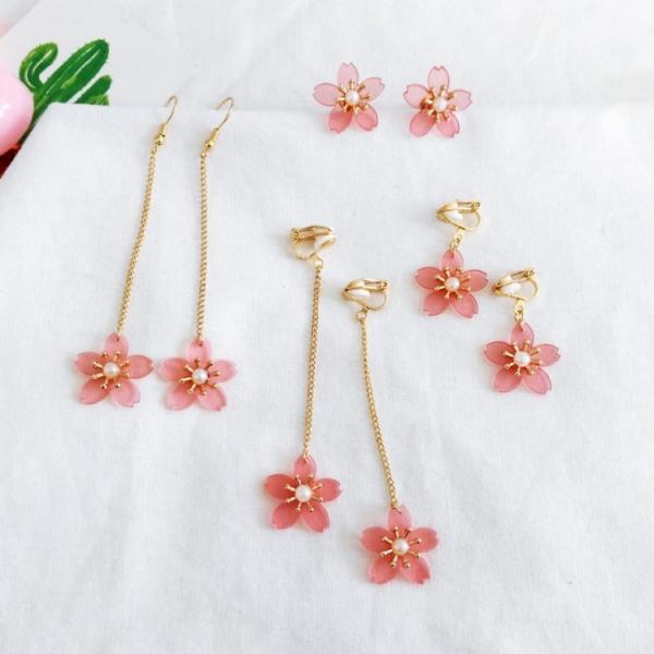 春之櫻木小花|耳環耳夾 / 髮夾