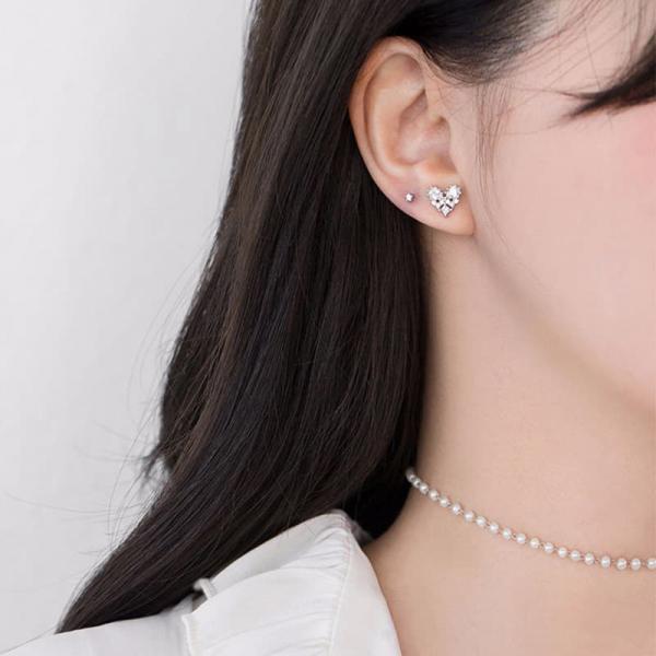 限量 | 韓國簡約925銀針小巧愛心耳釘