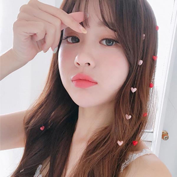 韓系可愛心心相繫髮夾髮飾
