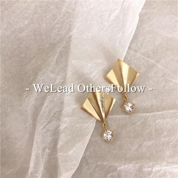限量|韓國東大門代購 - 奢華晚宴雪梨歌劇院鋯鑽耳環(925銀針)