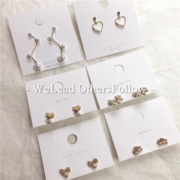 韓國東大門代購款REINA韓版珍珠小耳釘925銀針