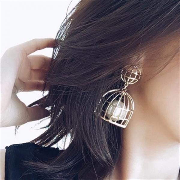 禁錮的愛耳環 籠子耳環, LadyA,性感,大方,辣,個性,優雅,耳環,時髦,休閒,韓風,低敏,簡約,鋼針耳環