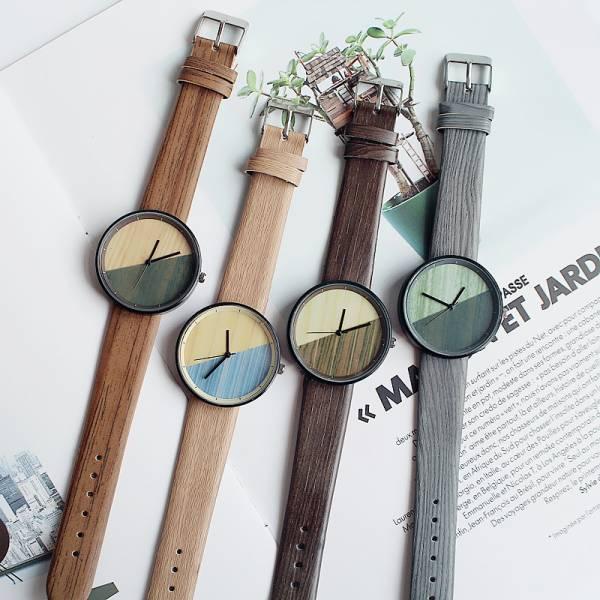 [韓國] 六弄咖啡館 · 感性與理性暖木質感手錶