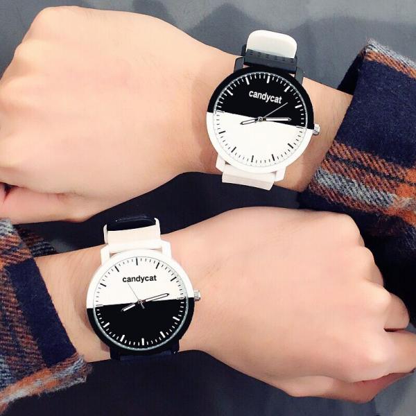 [韓國]手錶情侶時尚簡約潮流氣質創意皮帶一對生活防水韓版原宿男女學生