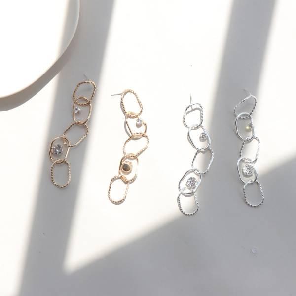 [韓國] NANA同款小鑽耳環 (925銀針)