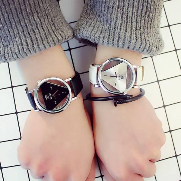 [韓國] 現代主義康丁斯基 · 個性潮流幾何切面鏤空手錶