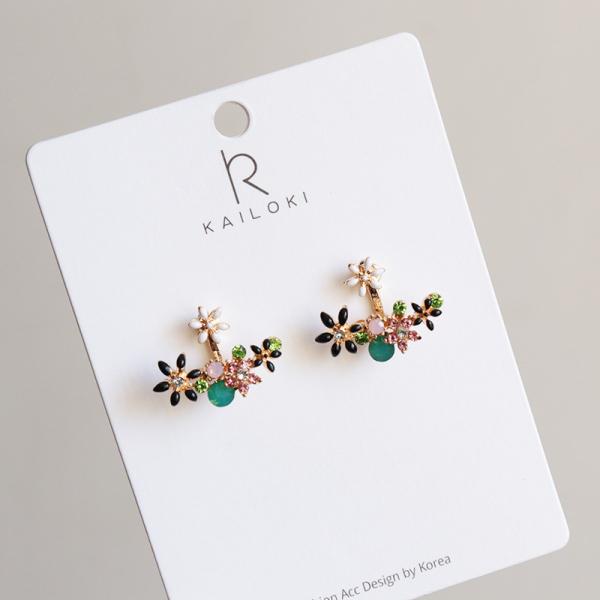 [韓國] 925銀針 - 鏡花水月典雅款耳環