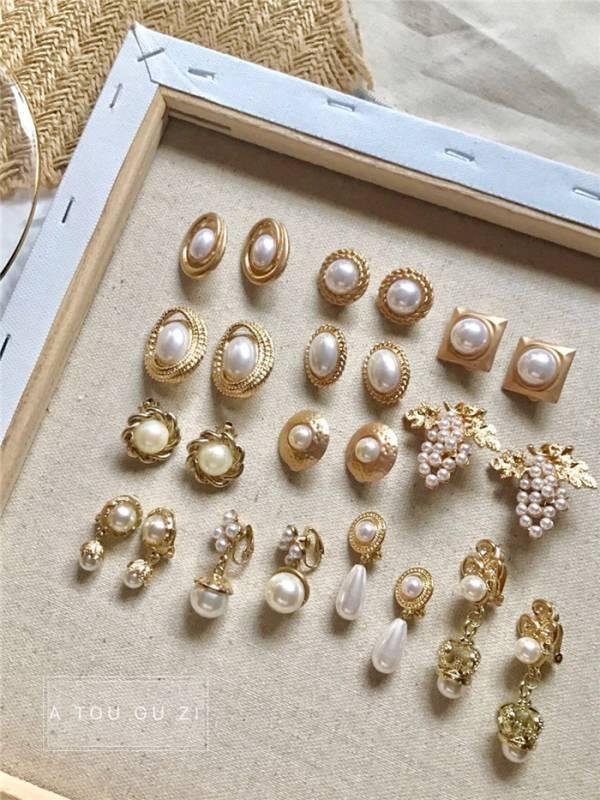 [歐美] 珍珠維納斯氣質款耳環(耳夾)