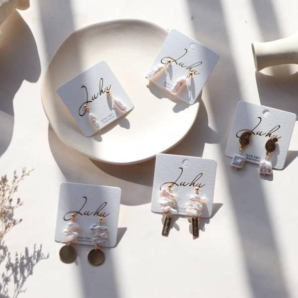 [韓國] 珍珠奧古巴洛克系列 (925銀針)