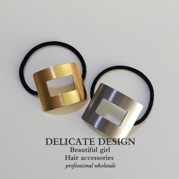 方形簍空金屬質感髮束