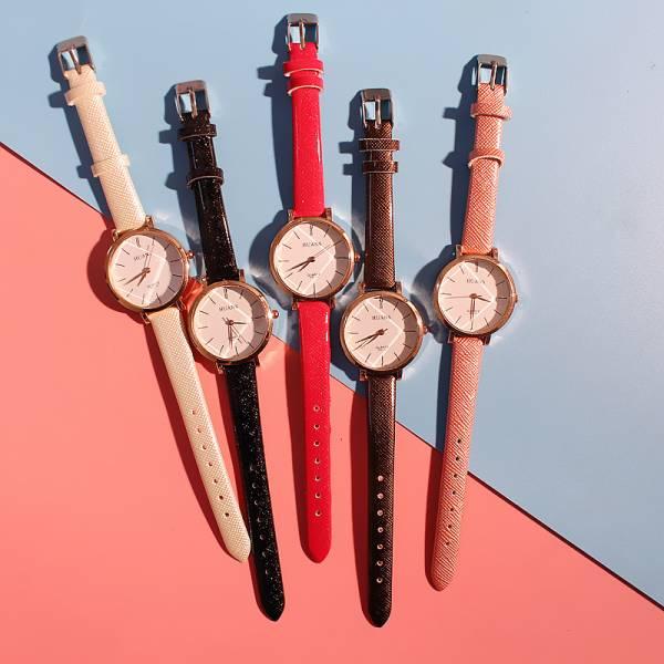 [韓國]大錶盤皮帶手錶女學生韓版簡約女士石英錶時尚潮流休閒防水時裝錶