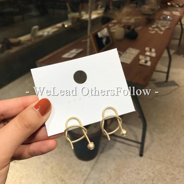 限量|韓國東大門代購NYU - 紐約街頭簡約時尚潮流耳環(925銀針)