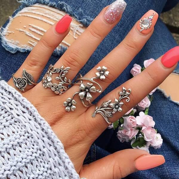 [歐美] 凡爾賽宮的後花園 - 華麗復古戒指 (4件套組)