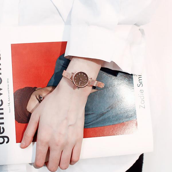 [韓國]ins冷淡風小錶盤手錶復古森系小清新百搭女學生韓版簡約小巧迷你