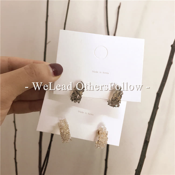限量 |  韓國設計水晶耳環925銀針