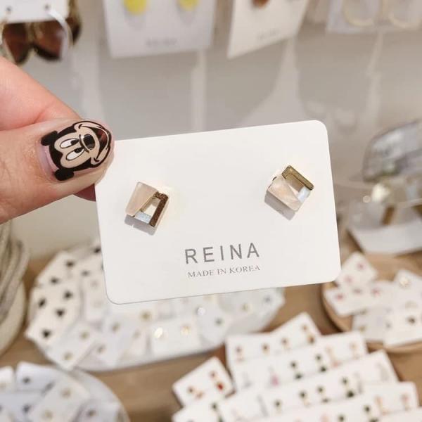 限量 | 韓國東大門新款925銀針耳釘女創意拼接幾何耳墜簡約百搭小耳飾