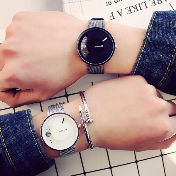 [韓國] 時尚IT復古黑白情侶錶