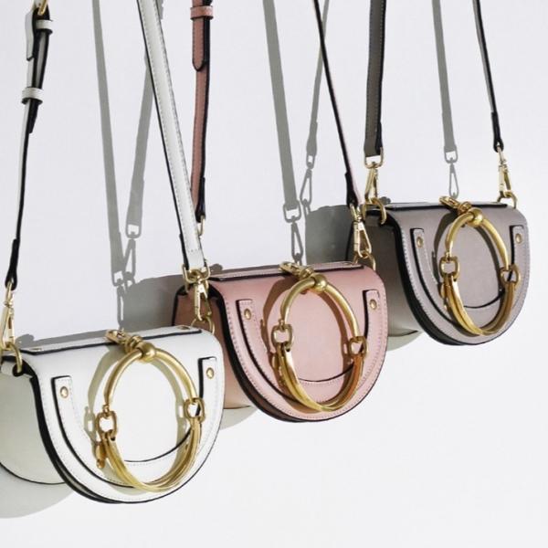 歐美復古鉚釘金屬馬鞍包 (明星同款,5色) LadyA,女包,包包,手提包,肩背女包,斜背,鉚釘,金屬,馬鞍包,歐美包,真牛皮包,牛皮包,歐美風,復古,時尚,獨特,魅力