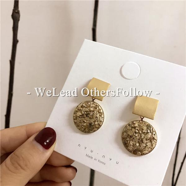 [韓國] 925銀針 - 殞落的星辰碎石耳環