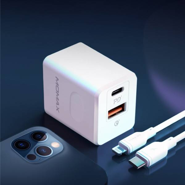 MOMAX ONEPlug USB-C雙孔充電器20W PD快充(UM16)