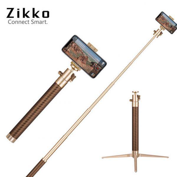 Zikko 360度鋁合金自拍棒角架(120CM)-金
