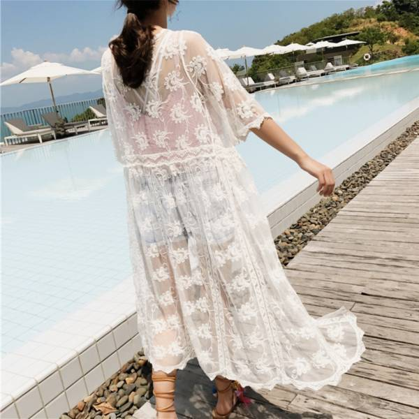 長版繡花罩衫 罩衫