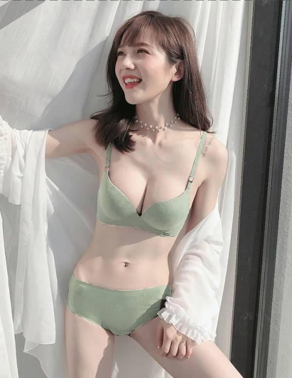 小胸專屬超厚無痕一片式無鋼圈內衣(綠) 內衣,美胸內衣,集中內衣,性感內衣