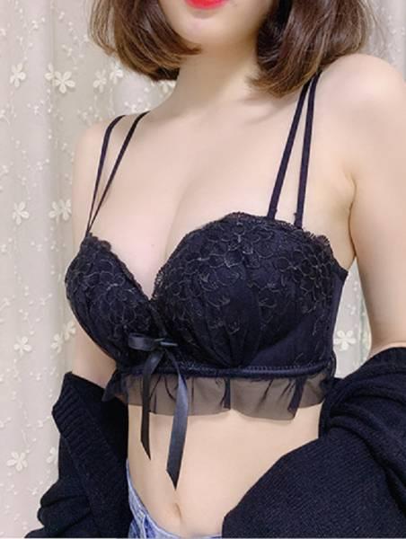 蕾絲手掌杯多穿美背內衣(黑) 內衣,美胸內衣,集中內衣,性感內衣